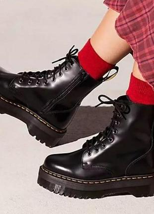 Ботинки высокие из натуральной кожи dr. martens
