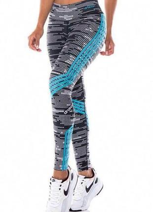 Женские спортивные лосины плотного качества с широким поясом-утяжка!