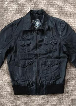 River island кожаная куртка оригинал (s)