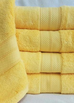 Полотенце микрокоттон 70х140 см. желтое
