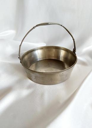 Винтажная ваза сахарница мнц мельхиор ссср