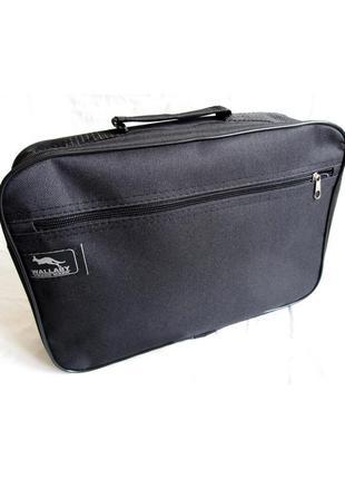 Мужская чёрная сумка через плечо wallaby 2600. сумка для мужчины на работу