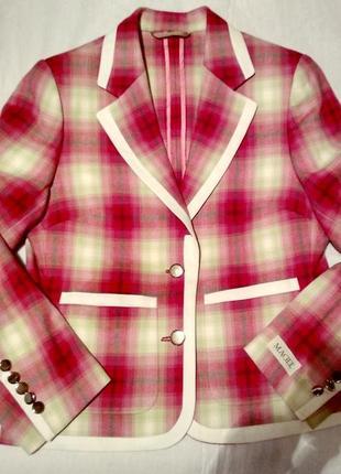 Magee жакет, пиджак розовый клетка р 10