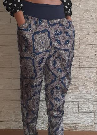 Красивые брючки штанишки с высокой посадкой можно для беременных