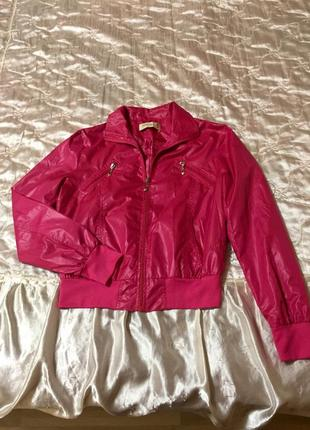 Куртка легкая розовая, обмен