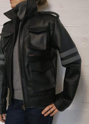 Куртка кожаная 44