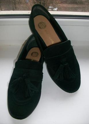 Туфли мокасины женские натуральная замша river island р.36