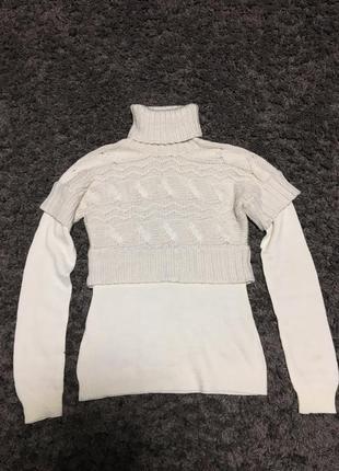 Двухслойный свитер с горловиной oggi, бесплатно