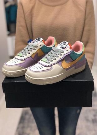 Nike air force 1 shadow стильные женские кроссовки из кожи/весна/лето/осень😍