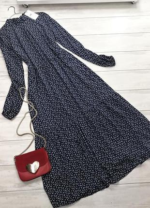 Винтажное платье миди в цветочек 174544 размер s-m