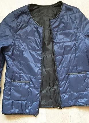 Двусторонняя ультралегкая куртка пуховик
