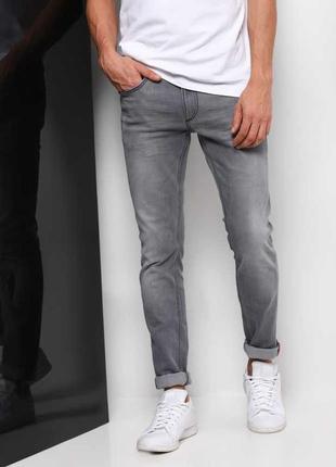 🌿1+1=3 фирменные узкие зауженные стрейчевые мужские джинсы скинни gap, размер 42 - 44