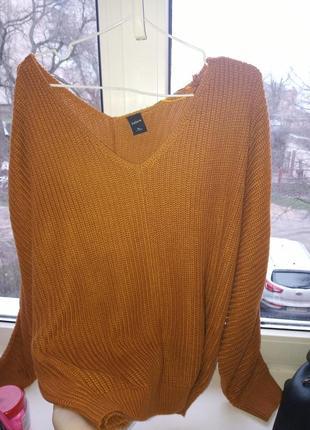 Вязанный свитер, тёплый)