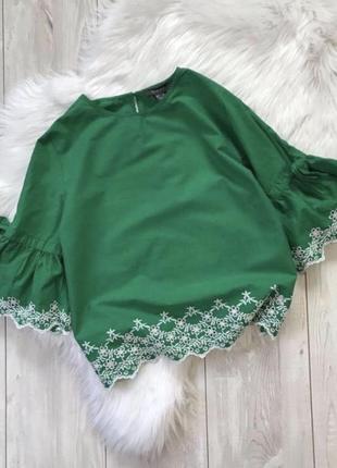 Хлопковая рубашка топ с перфорацией primark блуза