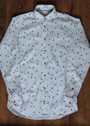 Мужская итальянская рубашка john henric milano shirt