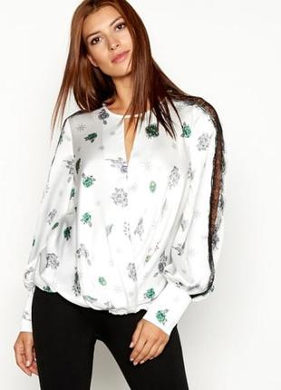 "Блуза из плотного шифона с кружевом ""star by julien macdonald"""