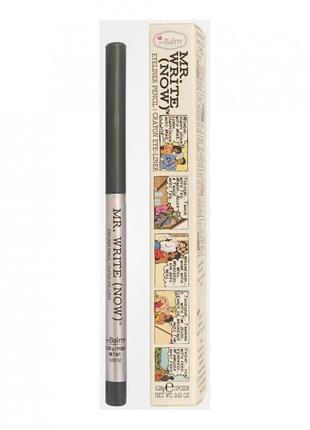 Thebalm mr. write (now) eyeliner pencil механический карандаш  водостойкий оригинал! серый