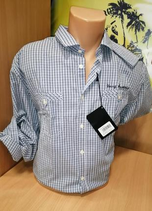 Рубашка длинный рукав клетка, размер 2xl