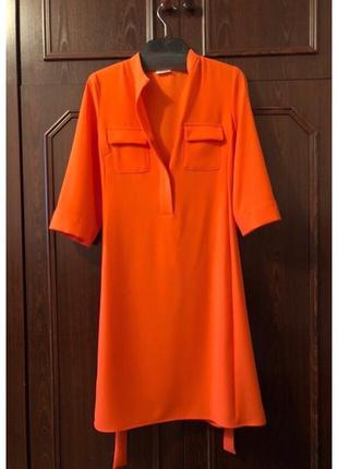 Стильное платье оранжевое яркое от gerry weber
