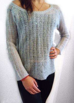 Нежно-голубой свитерок h&m