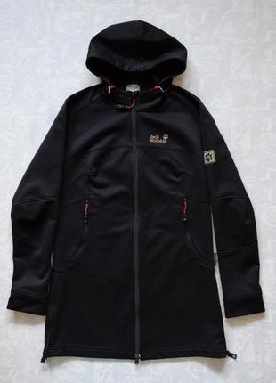 Длинная куртка jask wolfskin stormlock softshell ветровка софтшелл куртка софтшел