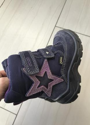 Ботинки зимние для девочки ecco, мембрана gore tex 23