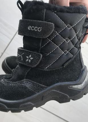Ботинки зимние ecco для девочки, мембрана gore tex. ecco 24 размер