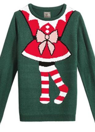 Женский стильный джемпер с рождественским мотивом от blue motion