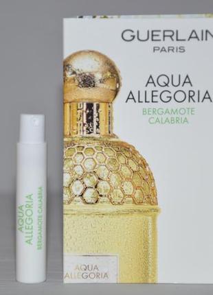 Aqua allegoria bergamote calabria guerlain (пробник)