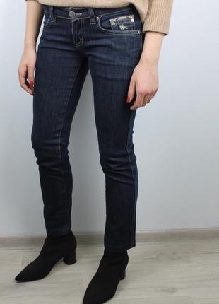 Темно-синие джинсы с низкой посадкой burberry оригинал