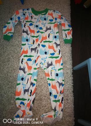 Пижама флис, человечек, слип