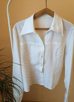 Рубашка белая винтаж с воротником