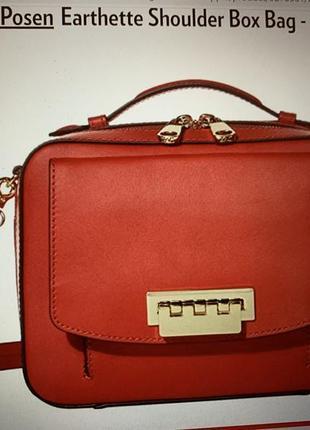 Кожаная сумка бренда zac zac posen оригинал из сша