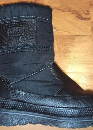 Зимние сапоги ботинки ecco,оригинал