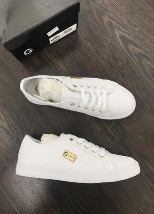 Кожаные белые кеды guess оригинал 37-38-39 размер