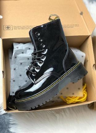 Dr.martens jadon лакированные кожаные ботинки на платформе /осень/зима/весна😍
