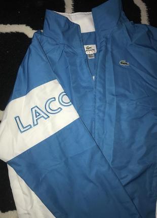 Курточка голубая lacoste оригинал
