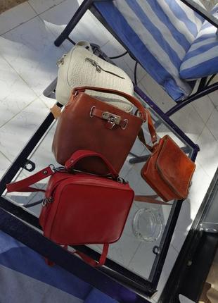 Кожаная сумка из натуральной кожи козы