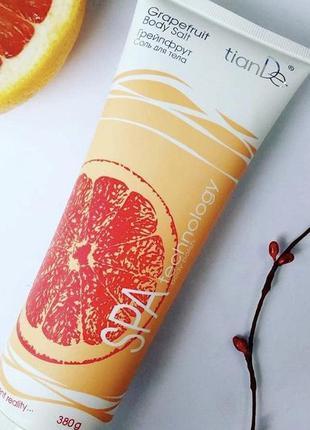Соль-скраб для тела с экстрактом грейпфрута