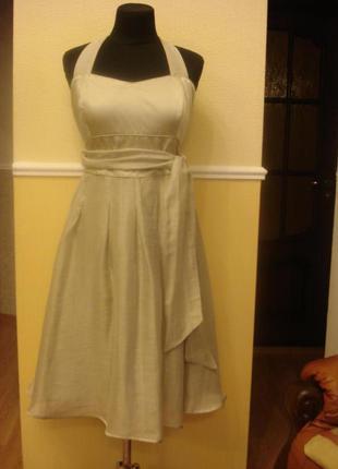 Летнее вечернее платье сарафан с открытой спиной principies