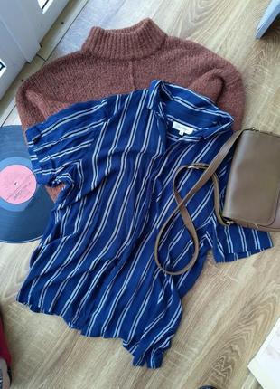 Рубашка в полоску классическая оверсайз