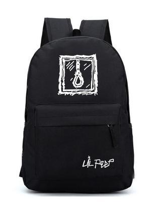 Рюкзак lil peep(лил лип)  петля. черный, городской, школьный