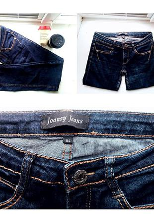Joansy jeans джинсы(темно-синие, зауженные)