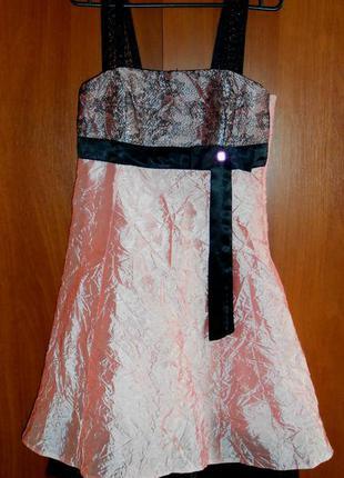 "Платье ""жатка"" нарядное,s-mразмер"