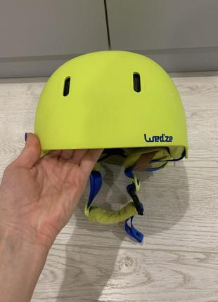Горнолыжный шлем decathlon салатовый цвет