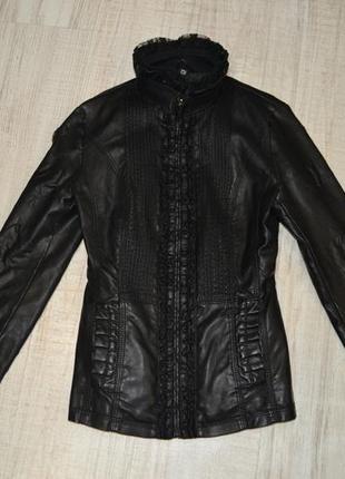 Женская куртка искусственная кожа б/у