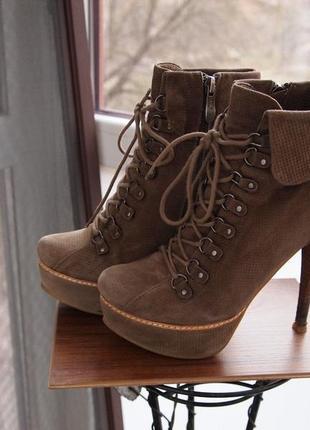 Модні черевичкі 36-37р нат замша
