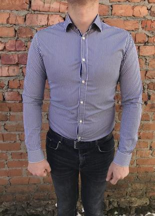 Рубашка zara man slim fit оригинал zara