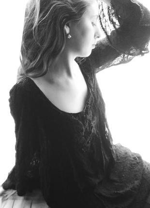 Чорне плаття, в стилі бохо, next,