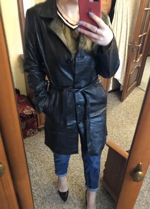 Кожа кожаный плащ пальто тренч как zara